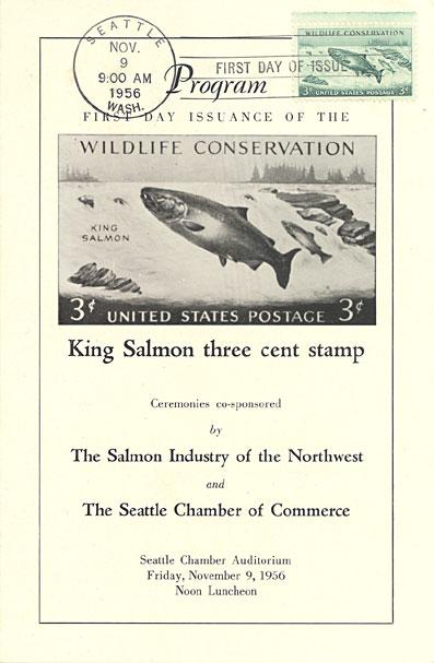 1956 king salmon stamp ceremony program