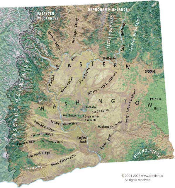 Eastern Washington Map